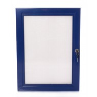 Blue Lockable Poster Cases