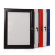 Lockable Poster Boards, Red, White, Green, Blue