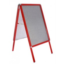 "20"" x 30"" Red Snap Frame Aluminium A-Board"