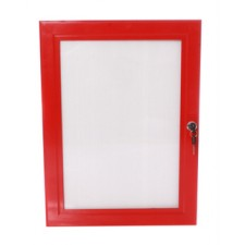 "20""x30"" Red Lockable Poster Case"