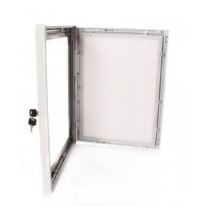 "40"" x 60"" White Lockable Poster Case"