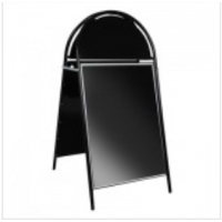 A1 Black Arched Headed A Board