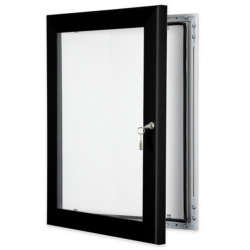 Black Lockable Poster Cases