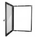 A4 Black Lockable Poster Case