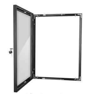 A0 Black Lockable Poster Case