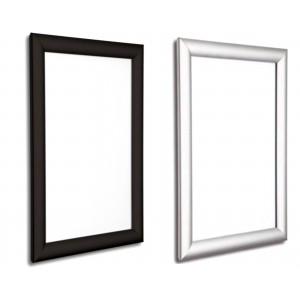 Movie Poster Snap Frames, 25mm in Black and Silver