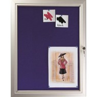 Pin Board Lockable Felt Back Poster Cases