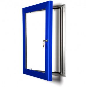 Blue Lockable Poster Cases