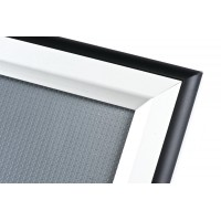 A1 Double Coloured Black and Silver 40mm Snap Frame