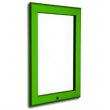 "30"" x 40"" Lockable Green 32mm Snap Frame"