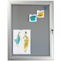 Pin Board Silver Lockable Poster Cases