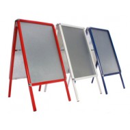 A-Boards in Red, White, Blue or Green with Snap Frame Profiles