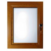 """30"""" x 40"""" Oak, Dark Wood Effect Key Lockable Poster Case"""