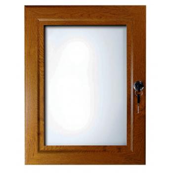 A2 Oak, Dark Wood Effect Lockable Poster Case
