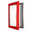 """20"""" x 30"""" Red Lockable Poster Case"""