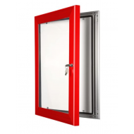 Red Lockable Poster Cases