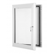 "20"" x 30"" White Lockable Poster Case"