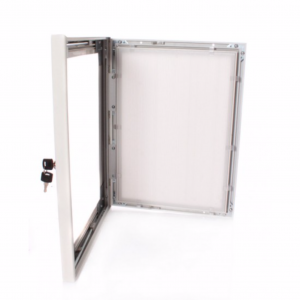 A2 White Lockable Poster Case