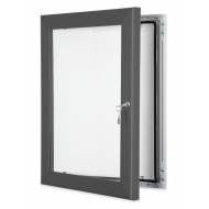 Grey Lockable Poster Cases