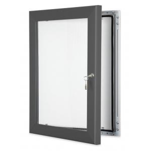 Grey Lockable Poster Cases