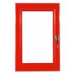 "20"" x 30"" Red Lockable Poster Case"