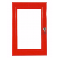 A1 Red Lockable Poster Case