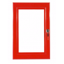 A4 Red Key Lockable Poster Case