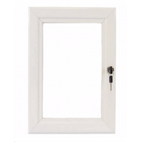 A0 White Lockable Poster Case