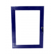 A4 Blue Lockable Poster Case