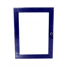 A3 Blue Lockable Poster Case