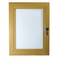 A2 Pine, Light Wood Effect Lockable Poster Case