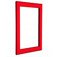 A1 Lockable Red 32mm Snap Frame