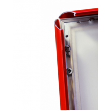 A0 Lockable Red 32mm Snap Frame