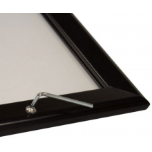 A1 Lockable Black 32mm Snap Frame
