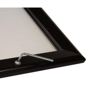 700mm x 1000mm (B1) Lockable Black 32mm Snap Frame