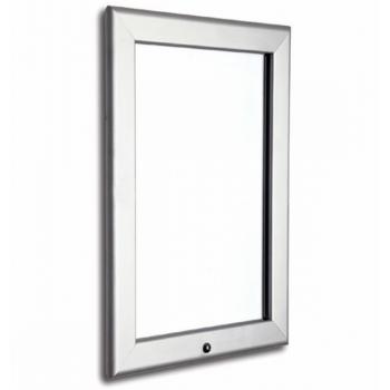 700mm x 1000mm (B1) Lockable Silver 32mm Snap Frame