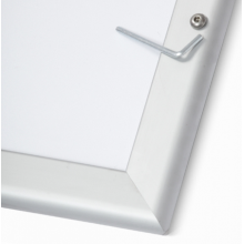 "20"" x 30"" Waterproof and Lockable Silver 32mm Snap Frame"