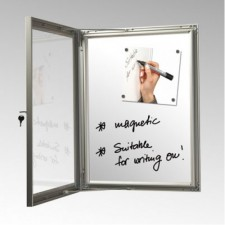 A4 x 6 Silver Magnetic Back Notice Board, Dry Wipe, 45mm