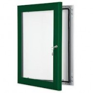Green Lockable Poster Cases