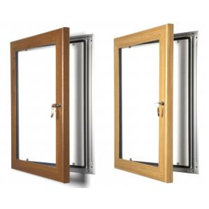 Wood Effect Lockable Poster Cases, Oak or Pine