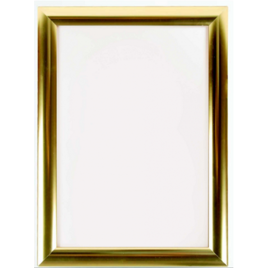 A1 Polished Gold Snap Frame, 25mm from Snap Frames Warehouse