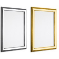 Polished Shiny Gold and Silver 25mm Snap Frames