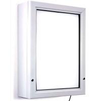 A0 (1188mm x 840mm) Elite Illuminated Exterior Slim Lockable Poster Case