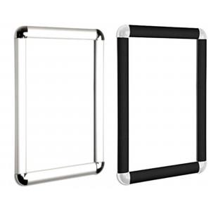 Round Corner Snap Frames, Black, Silver, 25mm, 30mm
