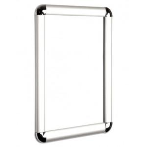 Round Corner Silver Snap Frames, 25mm