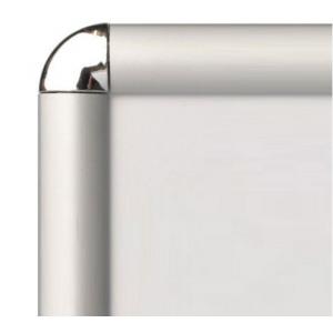 """40"""" x 60"""" Silver Round Corner 30mm Snap Frame"""