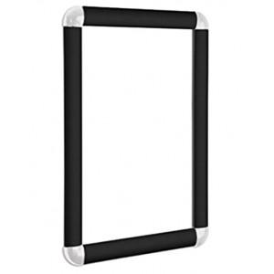 Round Corner Black Snap Frames, 30mm
