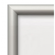 """27"""" x 41"""" Silver Movie Poster 25mm Snap Frame"""