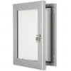 Silver Lockable Poster Cases