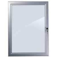 """20"""" x 30"""" Silver Lockable Poster Case"""